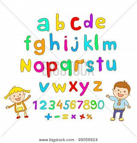 Abc For Kids Alphabet, Illustration, Vector, Kids, Children, Fun,