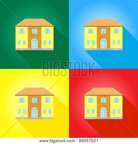 House On Colored Backgrounds