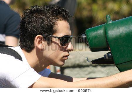 Young Man Looking Ii