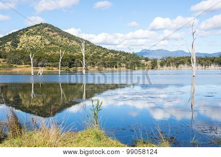 Lake Moogerah in Queensland during the day
