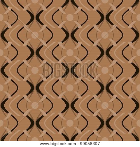Abstract Elegant Seamless Geometric Pattern In Black And Brown Colors