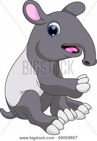 Cute tapir cartoon