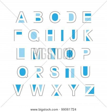 Set Of Abstract Alphabet Letters.