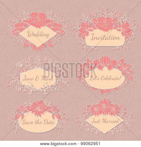 Vector Floral Frame Collection