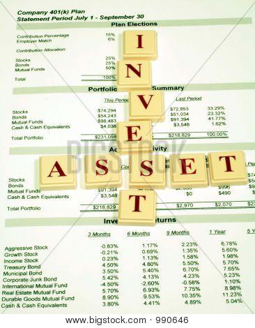 Activos de inversión en el Plan de jubilación