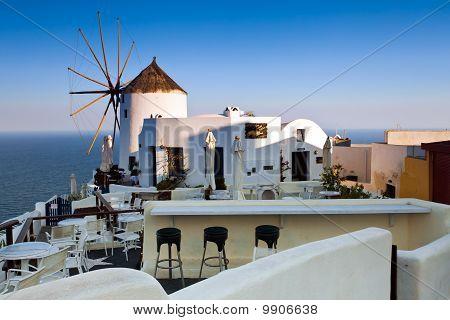 Traditional view of Santorini