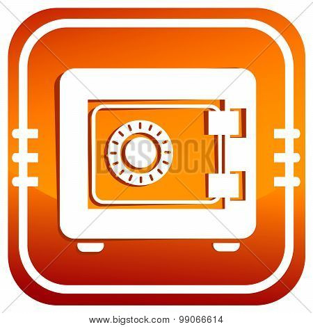 Safe Icon. Security Concept. Vector Illustration