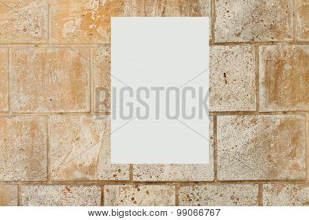 blank picture on a concrete wall