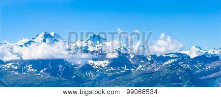 Panorama View Of Eiger, Monch And Jungfrau