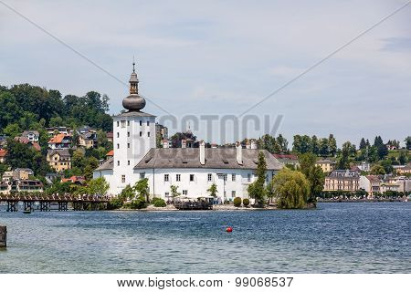 Castle Ort, Gmunden, View From The Jetty