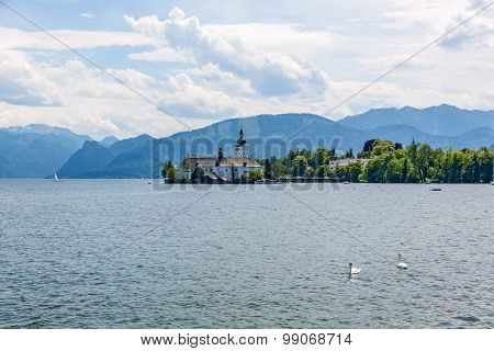 Castle Ort, Gmunden, View From Promenade