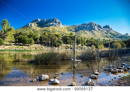 Mountain Lake In Mallorca