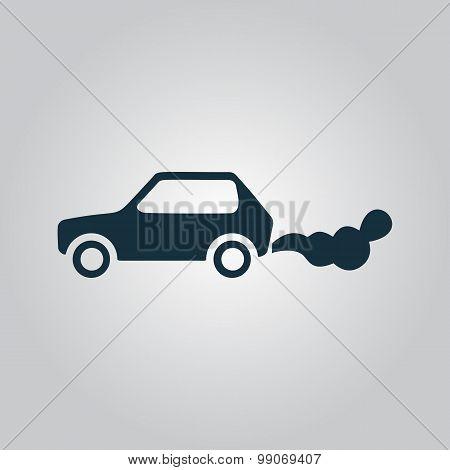 Car emits carbon dioxide