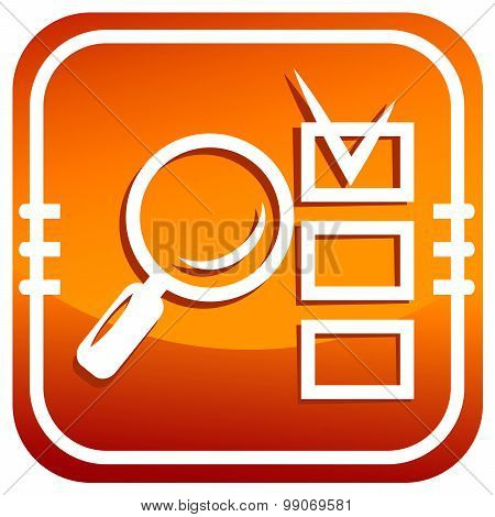 Magnifying Glass And Checklist