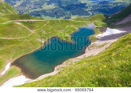 Aerial View Of Eisee Near Brienzer Rothorn