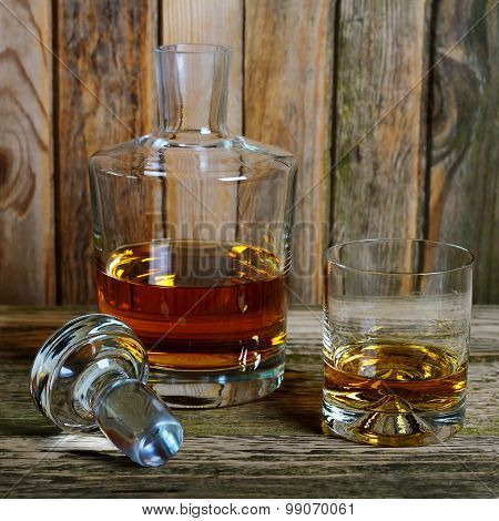 Decanter And Glass Of Whisky