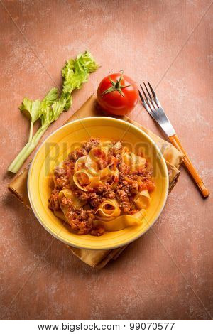 pasta with sausage ragout