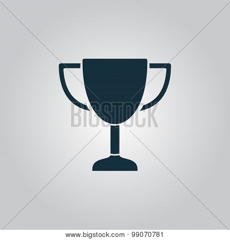 illustration of business and finance icon trophy