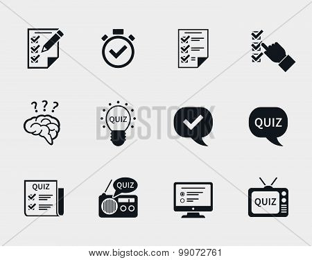 Quiz icon set
