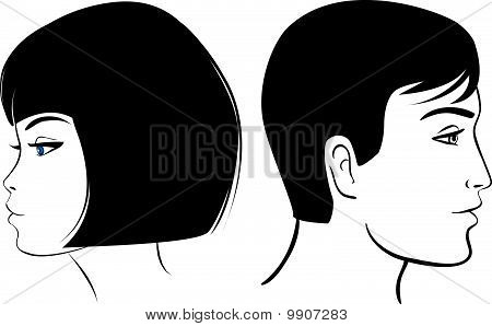 face man and girl