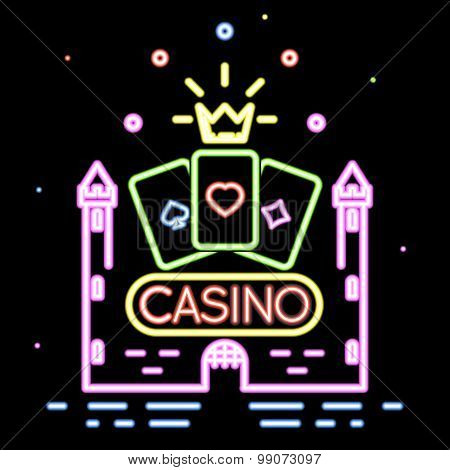 Poker club or casino vector background