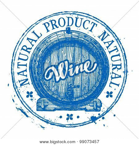 wine vector logo design template. oak barrel or drink, winemaking icon