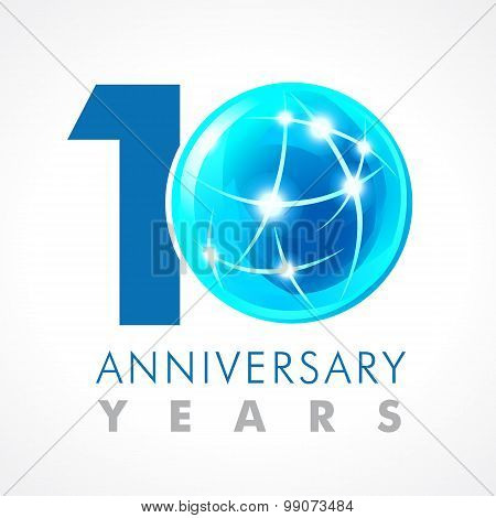 10 anniversary connecting logo