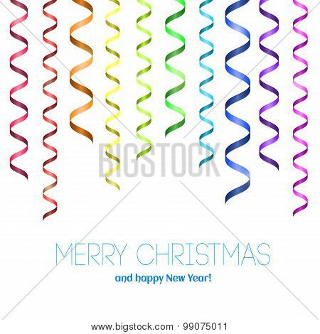 Rainbow Serpentine Pattern For Congratulation.