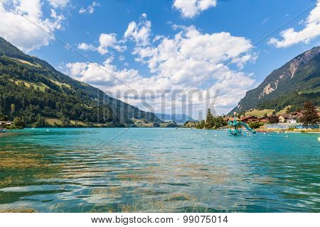 Beautiful View Of Lungern Lake In Swiss Alps