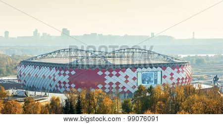 MOSCOW RUSSIA - SEPTEMBER 7 2015: new stadium Spartak