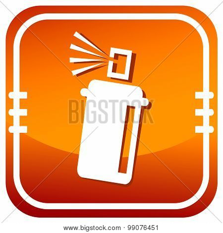 Spray With Chemicals. Orange Icon