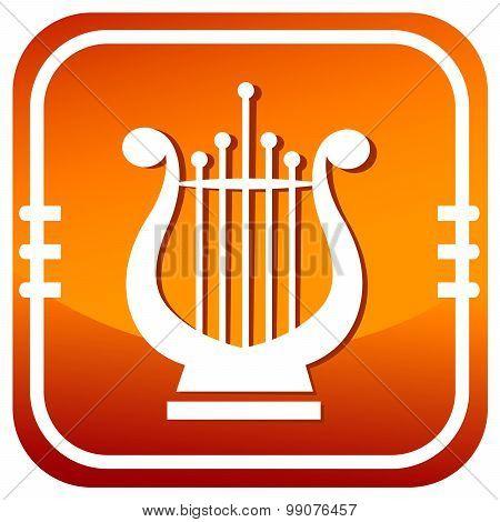 Lyra. Single Orange Icon