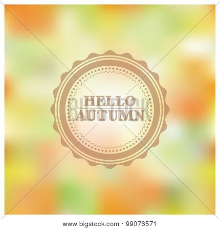 Blurred Autumn Background, Vector Illustration.