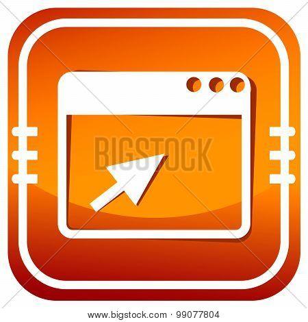 Vector Browser Orange Icon