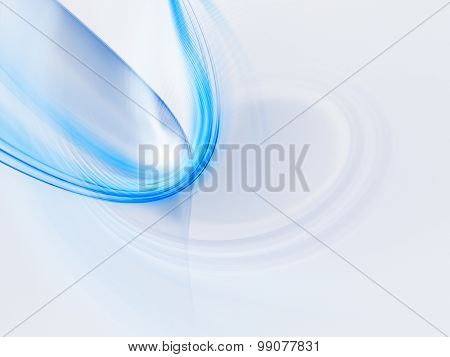 Abstract blue background. Detailed computer graphics.