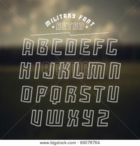 Sans Serif Geometric Military Font