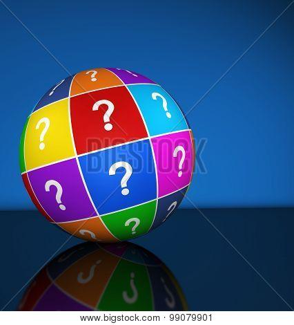 Question Mark Icon Globe