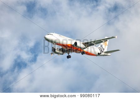 Jetstar Airbus landing at Coolangatta Gold Coast Airport