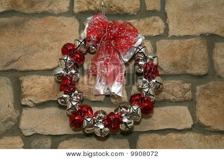 Wreath On Stone Wall