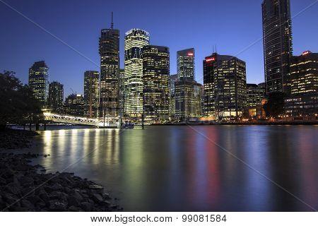 View of Brisbane city from Kangaroo Point, Brisbane