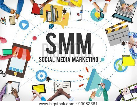 Social Media Marketing Online Business Concept