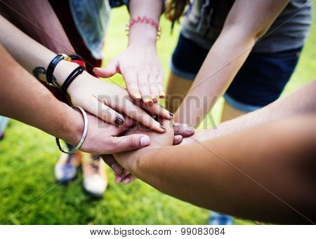 Team Teamwork Relation Together Unity Friendship Concept