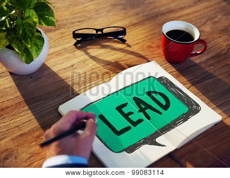 Lead Leadership Director Coach Boss Concept