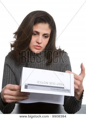 Young Woman In Debt