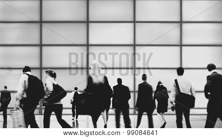 Commuter Business People Corporate Rush Hour Travel Concept