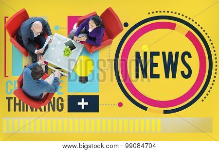 News Media Global Communication Publication Concept