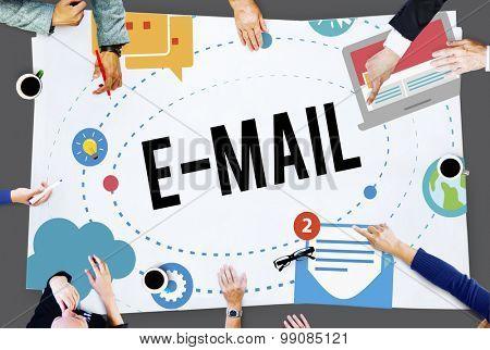 E-mail Online Internet Communication Information Connection Concept