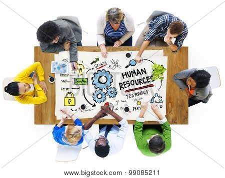 Human Resources Employment Job Teamwork People Meeting Concept