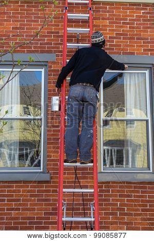 Painting House Window