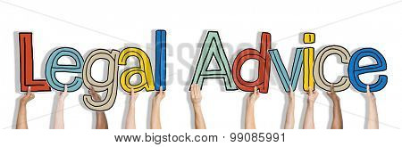 Legal Advice White Background Hands Hold Concept